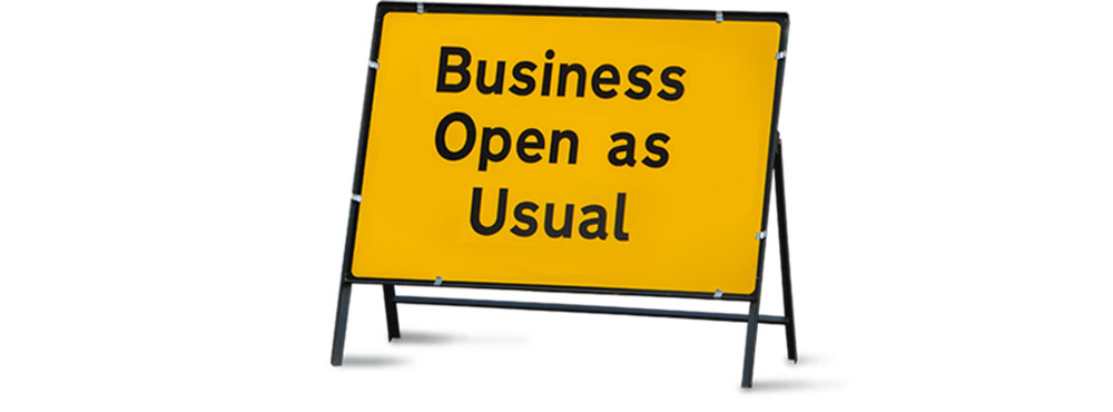 Business open as usual