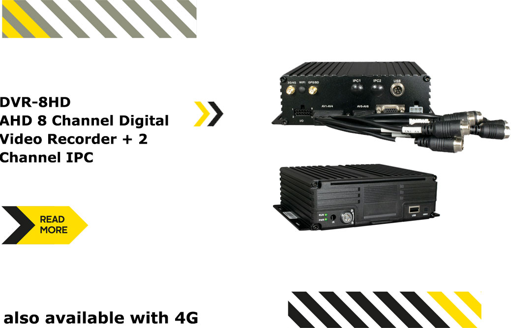 DVR-8HD AHD 8 Channel Digital Video Recorder + 2 Channel IPC also available with 4G