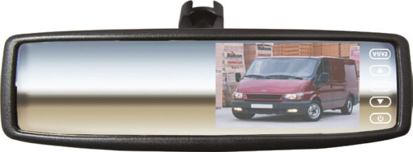 "4.3"" Mirror Monitor with Universal Stalk"